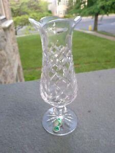 Waterford Crystal Vase Small Vintage Handmade Ireland Signed 6.75 In. Orig.tag