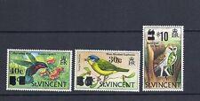ST. VINCENT 1973 BIRDS overprints complete (Scott 364-6) VF MNH