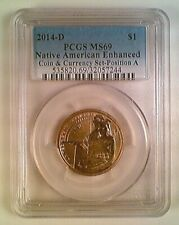 2014-D Sacajawea Native American Dollar PCGS MS69 Position A Coin Currency