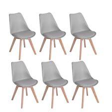 Lot de 6 chaises de salle à manger scandinaves, Chaises Rétro Tulip bois de hêtr