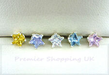 925 STERLING SILVER STUD EARRINGS 4mm STAR