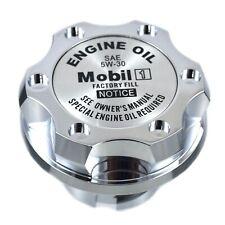 Chrome Billet Mobil 1 5W-30 Anodized Oil Cap Filler Fits Silverado Sierra HD