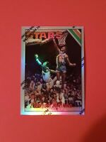 1996 TOPPS BASKETBALL #254 MOSES MALONE REFRACTOR ROOKIE CARD RC UTAH JAZZ NBA!