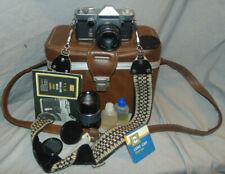 Vintage Sears T.L.S. Model 444.73231`Slr 35mm Film Camera w/ Accessories