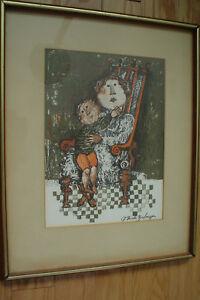 GRACIELA RODO BOULANGER - Attractive Original Lithograph - Signed - Framed