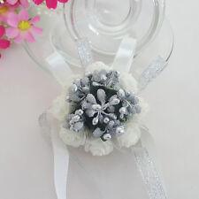 New Wedding Bridesmaid Prom Party Wrist Corsage Pearl Bracelet Hand Wrist Flower