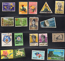 stamps MALAYSIA A1 A9(2) A11 A12 A14 A17 A22 A24 A45 A52 A57(2 A62 A77(2 A90 A99