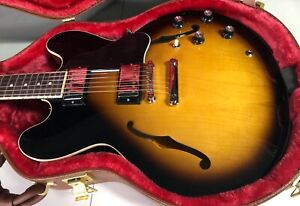 MINT! Gibson ES-335 ES335 Gloss Dot - Vintage Sunburst - Original Case - 2021