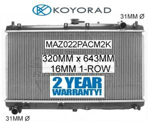 RADIATOR MAZDA MX5 NB 1.8ltr 1998-9/2005 MANUAL RADIATOR *GENUINE KOYORAD*