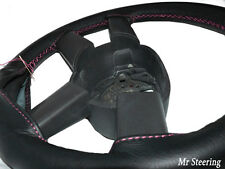 FOR JEEP CHEROKEE KJ NEW BLACK LEATHER STEERING WHEEL COVER 01-07 PINK STITCHING
