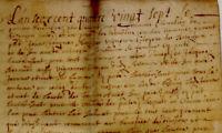 1687 parchemin Besançon Calezeule BARBISIER BERNARD LOMBARDIN ANIET DEPOUTIER