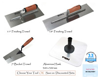 "Plastering Finishing Trowel 11""/18"", Aluminium Hawk Bucket Trowel Discounted Set"