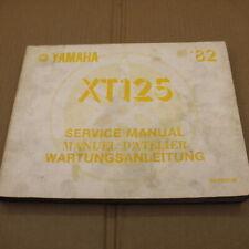 MANUEL REVUE TECHNIQUE D ATELIER YAMAHA XT 125 1982 -> XT125 SERVICE MANUAL