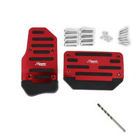 2 Pcs Red Non Slip Automatic Transmission Pedal Cover Brake Clutch Accelerator