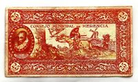 Spain-GUERRA CIVIL. 25 centimos 1937. Consejo municipal de Herencia. MBC/VF.