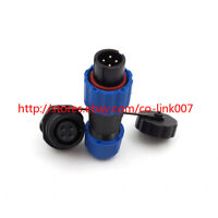 SD13 4pin Waterproof Connector, IP67 High-voltage Power Connector Multi[ole Plug