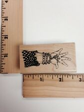 Great American Stamp Store - Open Hand Rubber Stamp - NEW
