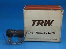 TRW IRC 12 OHM 5 - 8 WATT NOS RESISTOR WIREWOUND METAL GLAZE  GUITAR AMP