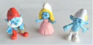 Smurfs Bundle of 3 Figures Jakks Peyo 2011 & 2013