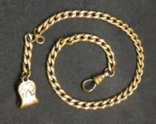"Gold Plated 12"" Inches Long Pocket Watch Chain Lobster Clasp"