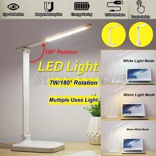 Adjustable Home LED Night Light Desk Table Lamp Desktop Lighting USB Charger