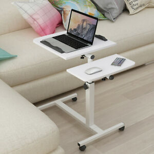 Moving Over Bed Chair Computer Laptop Table Adjustable Sofa Bedside Work Station