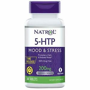 Natrol 5-HTP Time Release tablets, Promotes a Calm Relaxed Mood, Helps...