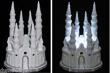 Illuminated..Glittered Disney Cinderella.Fairytale Castle.Wedding Cake Topper