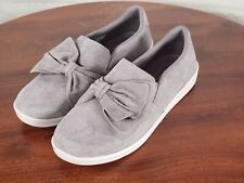 Skechers - Suede Bow Slip On Shoes - Madison Ave - Grey