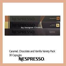 30 Capsules Nespresso Coffee Pods Caramel Vanilla Chocolate Variety Pack MDC