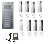 COMMAX Audio Intercom for 8-Apartment Building: DR-8UM x1, DP-SS x8, RF-12015S