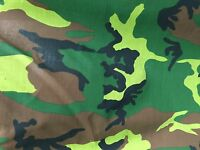 """Camouflage Print Poly Cotton Fabric - Sold By The Yard - 59"""""""