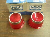 NOS OEM Ford 1963 Fairlane Tail Light Lamp Lenses w/ Trim
