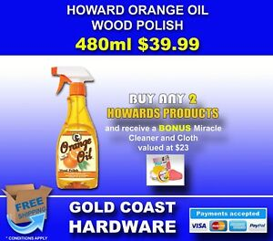 HOWARDS ORANGE OIL BY HOWARD PRODUCTS ALL SIZES AVAILABLE