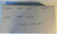 Wima Film Fkp 1 630v Cap Design Eng Kit As Is