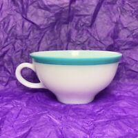 Vintage Pyrex Blue Rimmed Tea Cup Milk Glass Sky Edge Replacement