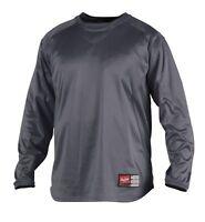Rawlings UDFP2 Mens Dugout Fleece Pullover Baseball Crew Sweatshirt 2XL Graphite