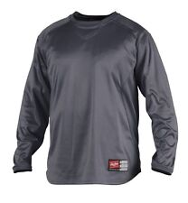 Rawlings UDFP2 Mens Dugout Fleece Pullover Baseball Crew Sweatshirt 2XL Graphite