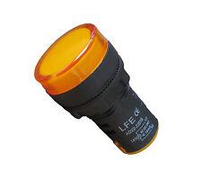 Signalleuchte LED 22mm 230V AC GELB (Kontrolleuchte/Signallampe/Warnlampe)