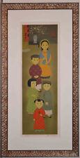 Listed Vietnamese - French Artist Mai Thu, Original Signed LIthograph Print Rare