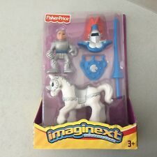 2002#VINTAGE RARE FISHER PRICE ADVENTURES ROYAL KNIGHT WITH HORSE#NIB