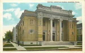 Central Christian Church Houston Texas Seawall Specialty 1920s Postcard 21-1841