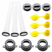 3set Rubbermade Replacement Gas Can Spout&Parts Vent Cap Flexible Gasket Stopper