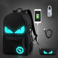 Luminous Backpack Sports Bags Students Schoolbag Convenient to Charging Music Boy Pencil Bag Lock L With USB