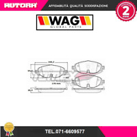 1697-G Kit pastiglie freno a disco ant.Audi-Seat-Skoda (WAG)
