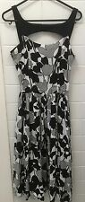 State Of Georgia Size 6 Cocktail Work Dress EUC Black White Floral Summer