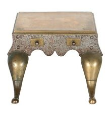 Antique Brass Fireplace Hearth Kettle Stand Trivet