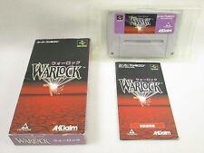 WARLOCK War Lock Item Ref/bcc Super Famicom Nintendo Japan Game sf