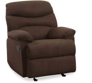 FREE SHIP - ACME Arcadia Chocolate Brown Microfiber Recliner