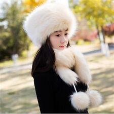 4f596611 Ladies Russian Trapper Cossack Ushanka Hats Ski Faux Fur Winter Pom Pom  Vintage
